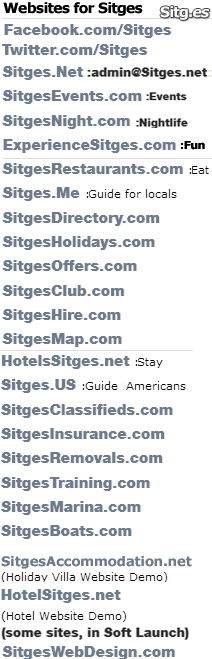 sitges websites list
